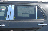 ford explorer chrome pillar post trim