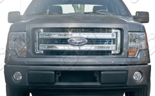 Ford F 150 Chrome Grille Insert Overlay Trim 2013 2014
