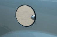 dodge grand caravan and chrysler town and country chrome fuel door cover