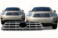 2010 toyota highlander chrome grille insert trim