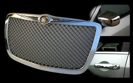 Chrysler 300 Chrome Bentley Mesh Grille Door Handle Mirror Cover Package