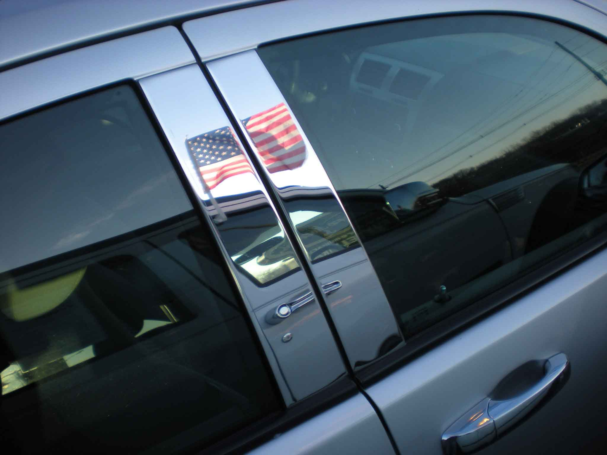 for 2014-2018 Toyota Highlander Stainless Steel Window Pillar Post Cover Trim
