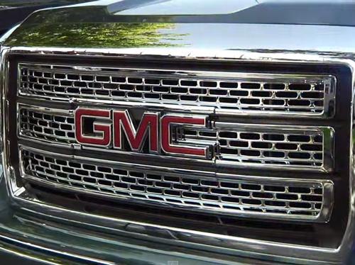 2014 2015 Gmc Sierra Chrome Grille Insert Overlay Trim