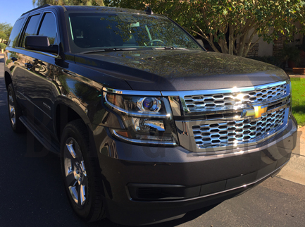 2015 2019 Chevy Tahoe Chrome Mesh Grille Insert Overlay