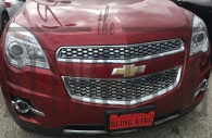 2015 chevy equinox chrome mesh grille insert trim