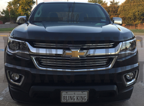 2015-2020 Chevy Colorado Chrome Grille Insert Overlay Trim ...
