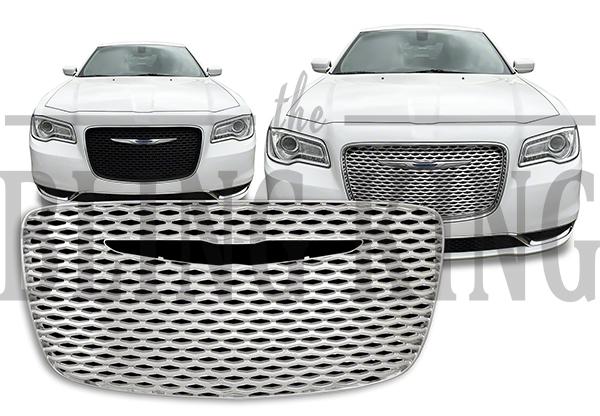2015-2020 Chrysler 300 Chrome Mesh Grille Insert Overlay Trim