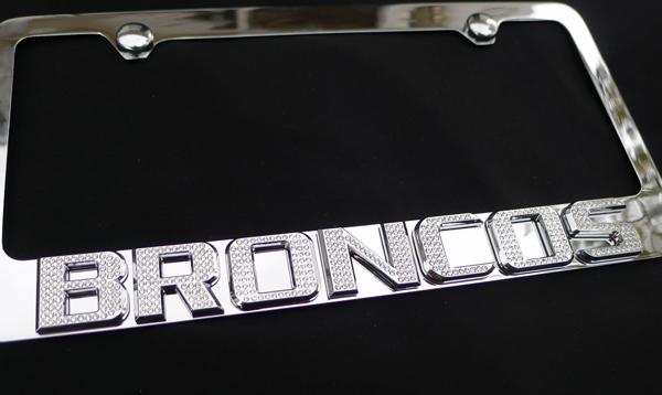 license plate frame emblem denver broncos chrome emblem