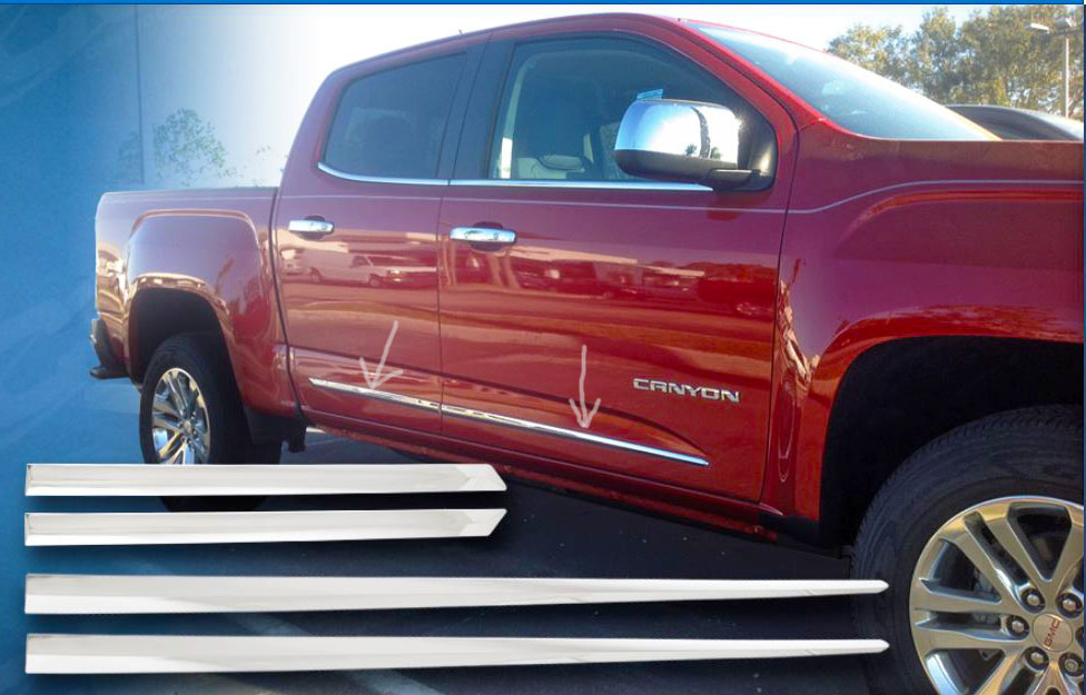 ... gmc yukon chrome door trim & 2015-2018 GMC Yukon SUV Chrome Body Side Molding Door Trim