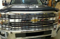 2016 chevy silverado 2500 chrome grille insert overlay trim