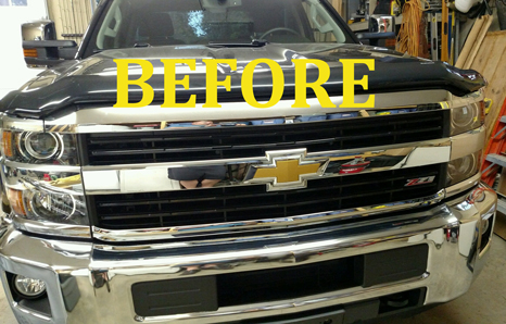 2015-2018 Chevy Silverado 2500 Chrome Grille Insert Overlay Trim (LT/Z71 only)