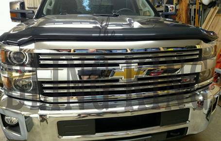 2015-2018 Chevy Silverado 2500 Chrome Grille Insert Overlay
