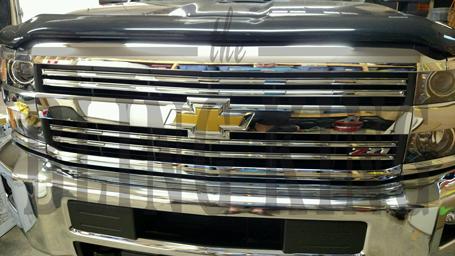 2015 2018 chevy silverado 2500 chrome grille insert overlay trim (lt