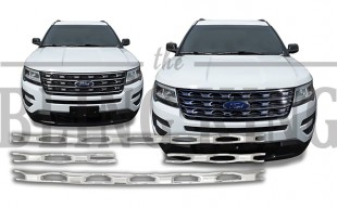 2017 ford explorer chrome grille insert trim