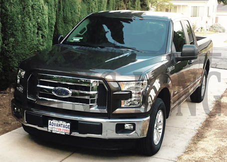 Chrome Front Bumper Headlight Grille Cover Trim for 2015-2018 Ford F150 Pickup