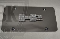 hummer h2 chrome license plate trim