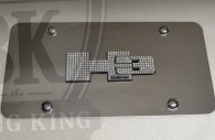 hummer h3 chrome license plate frame