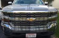 2017 chevy silverado chrome mesh grille insert