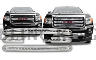 2017 gmc canyon chrome grille insert trim