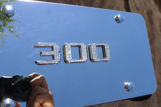 Chrysler 300 Chrome License Plate Cover W Iced Out Swarovski Emblems