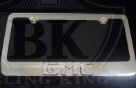 gmc iced out emblem chrome license plate frame