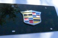 cadillac black license plate tag