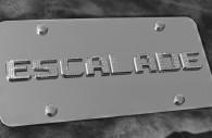 cadillac escalade chrome license plate frame iced out emblems