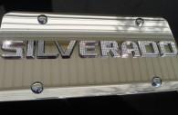2017 chevy silverado chrome license plate