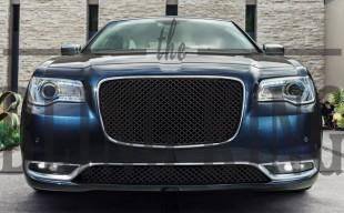2015 2016 chrysler 300 black bentley mesh grille