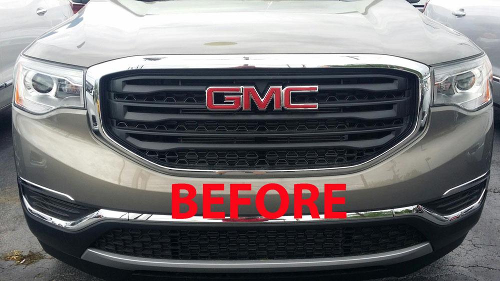 2017-2019 GMC Acadia Chrome Grille Insert Overlay Trim